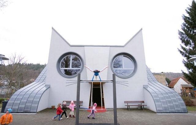 Немецкий детский сад в виде кошки