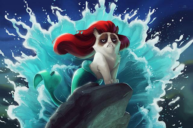 Grumpy Cat посетила Диснейленд