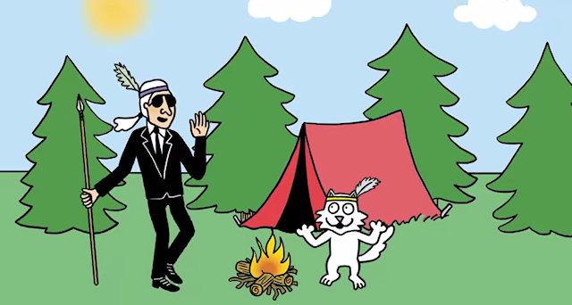 Лагерфельд и его кошка стали героями мультфильма