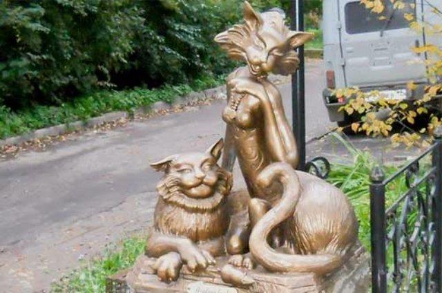 В Йошкар-Оле установили памятник кошке