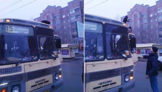 В Воронеже спасли кошку, ездящую на крыше автобуса