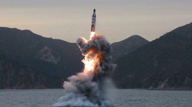 КНДР неудачно провели запуск баллистической ракеты с подводной лодки