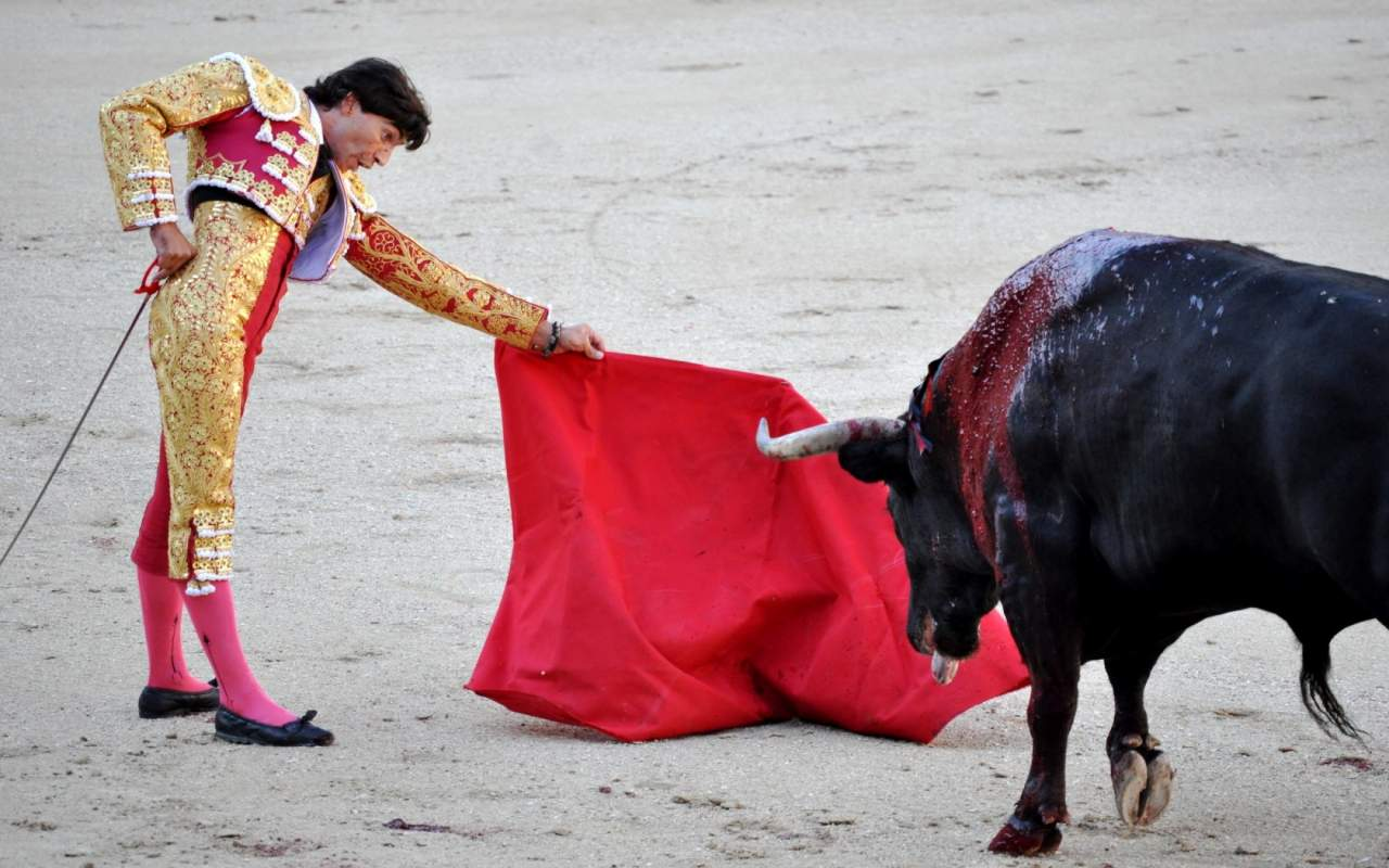 Смертельные игры с быком в Испании