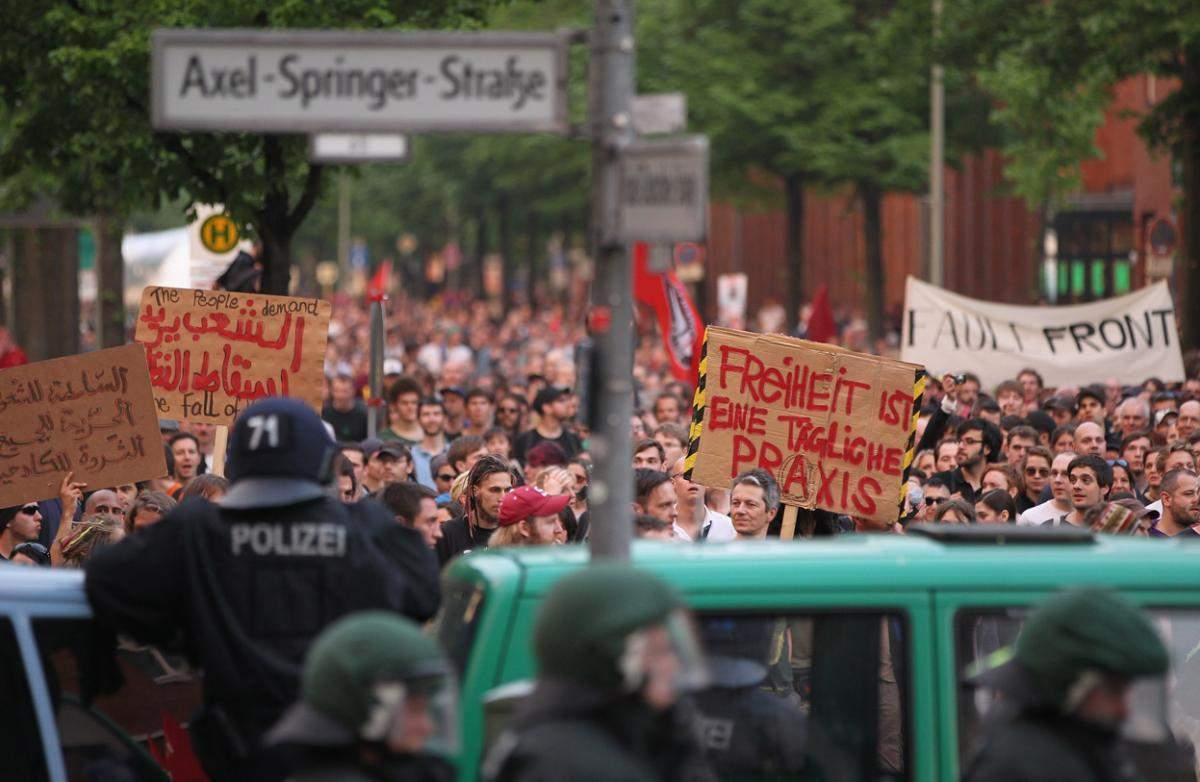 В Берлине в результате митинга есть пострадавшие