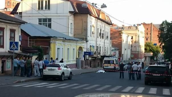 На одной из центральных улиц Харькова застрелен мужчина