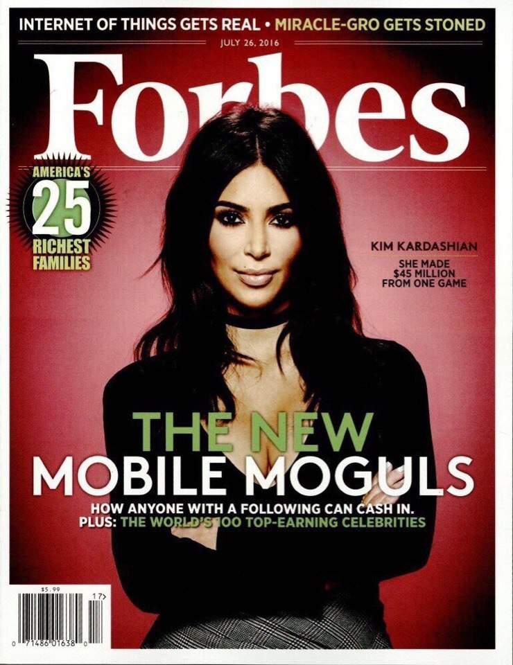 Ким Кардашьян украсила обложку журнала Forbes