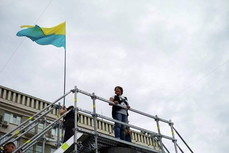 В Киеве вместо Ленина появилась арт-инсталляция