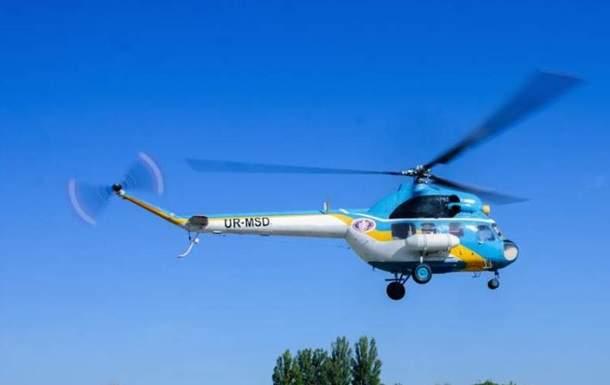 На Сумщине упал вертолет Ми-2