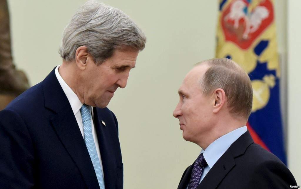 Путин обсудит с Керри конфликты в Украине и Сирии