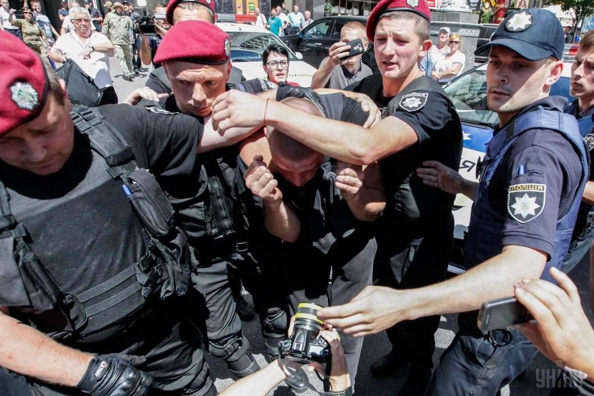 "Полиция доставила в участок 20 участников инцидента под кафе ""Крещатик"""
