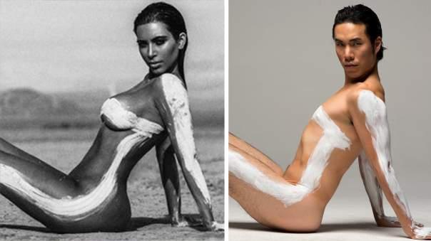 Фото мужчин отредактировали по стандартам женской красоты