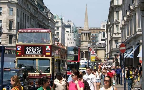 В Лондоне одна из центральных улиц станет пешеходной