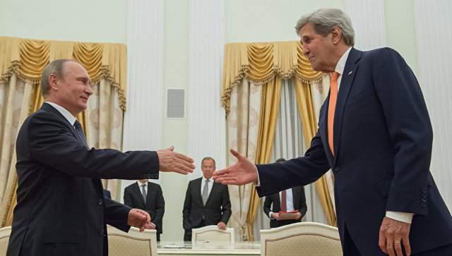 Вопрос Донбасса обсудили Меркель с Медведевым и Керри с Путиным