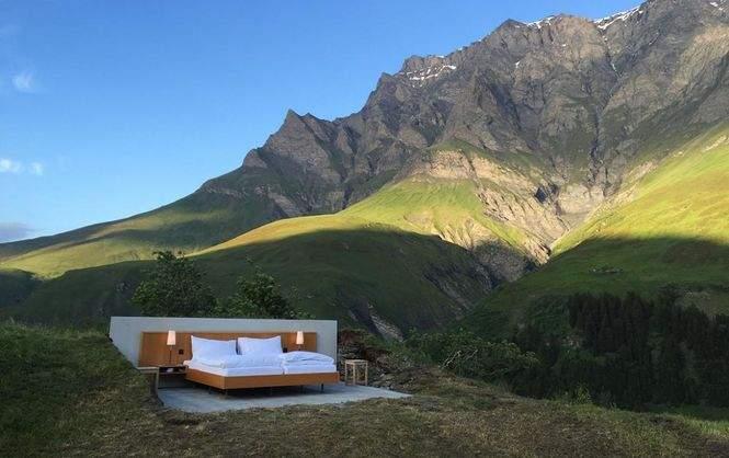 В Швейцарии появился отель под открытым небом