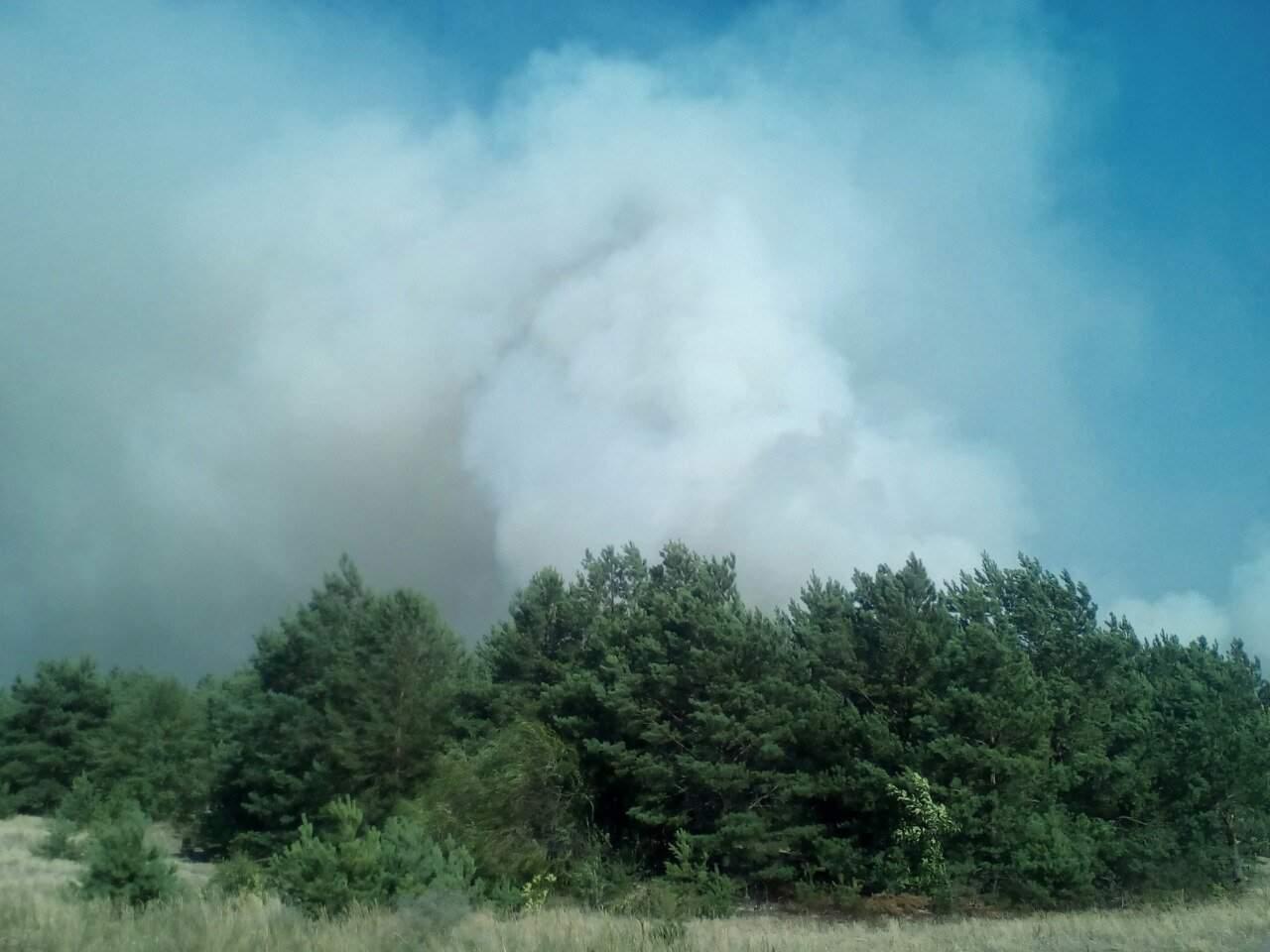 В Черниговской области пытаются ликвидировать возгорание на военном полигоне