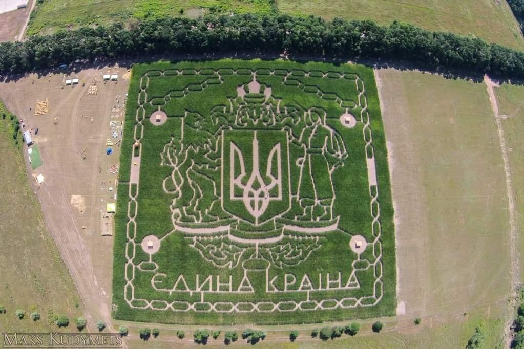 В интернете появилось фото лабиринта в кукурузном поле на Большой Окружной дороге
