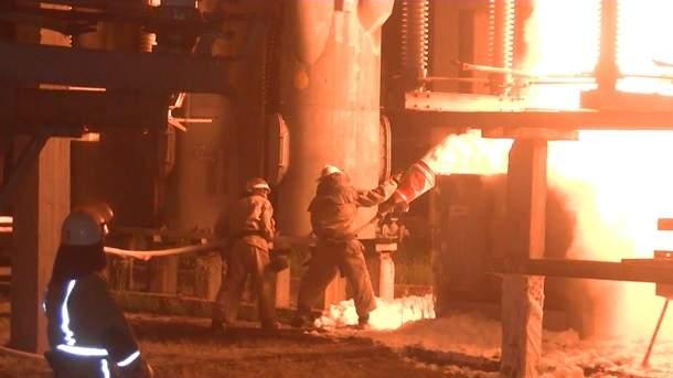На Харьковской электростанции возникло возгорание