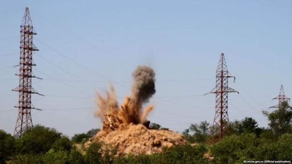 В Крыму обезвредили немецкую бомбу весом в полтонны