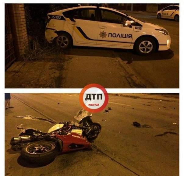Убегая от полиции, мотоциклист разбился насмерть
