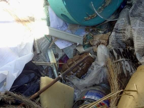 В мусорном баке столицы нашли гранату