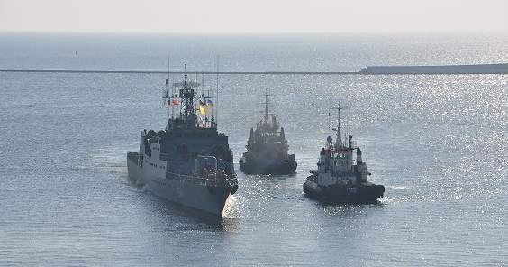 В Одессу на учения прибыл румынский корабль