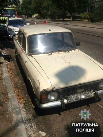 Патрульные Киева обнаружили в Москвиче гранаты и патроны