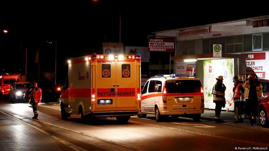 В результате нападения на поезд в Баварии есть пострадавшие