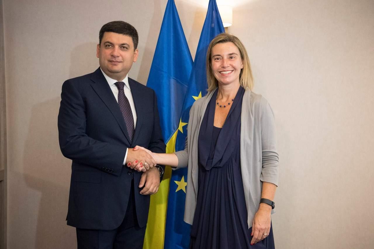 Гройсман встретился с представителем ЕС по иностранным делам
