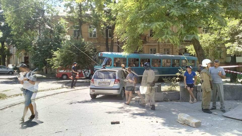 В центре Одессы обвалился