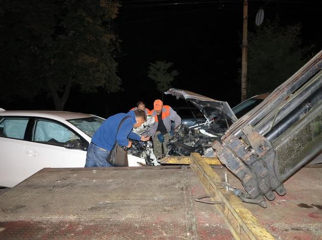 В результате столичного ДТП пострадали три иномарки