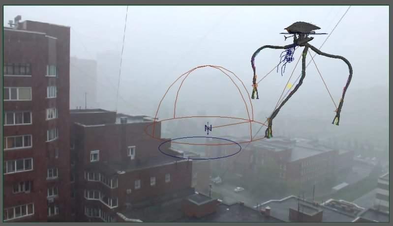 В Новосибирске очевидцы засняли инопланетное существо