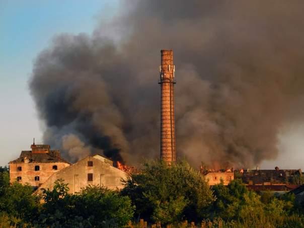 На Львовщине произошёл масштабный пожар