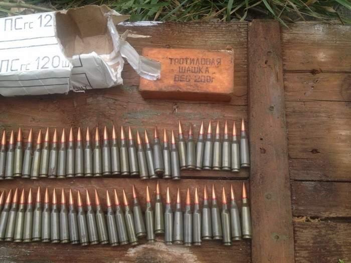 На Донбассе обнаружено два тайника с боеприпасами