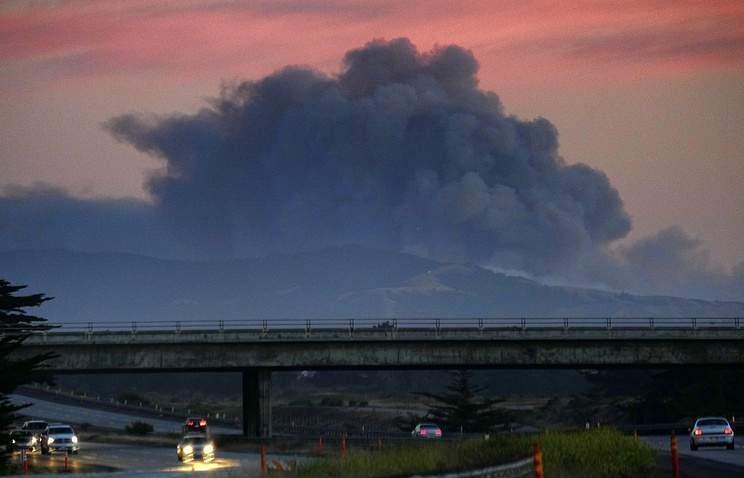 В Калифорнии пожар. Эвакуировано 300 домов