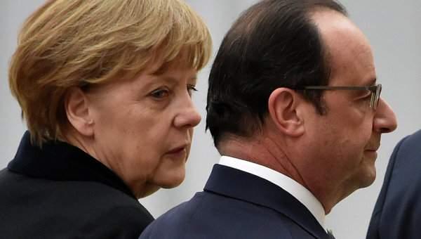 Олланд и Меркель обсудили теракты Франции и Германии
