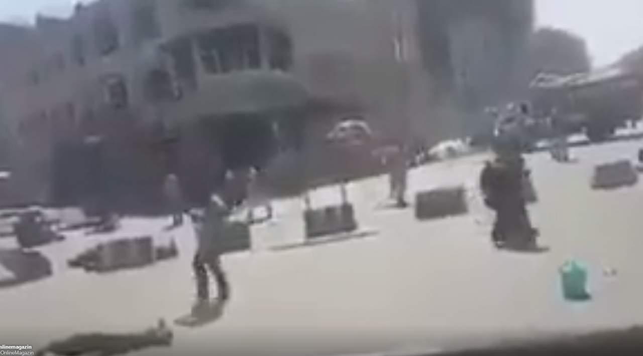 Видео с места теракта в Кабуле