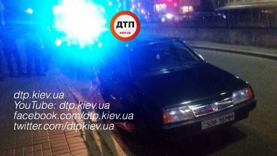 В Киеве пьяный водитель утверждал, что он пешеход