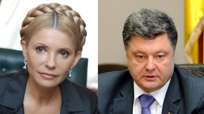 Украинцы готовы отдать свои голоса за Порошенко и Тимошенко на выборах