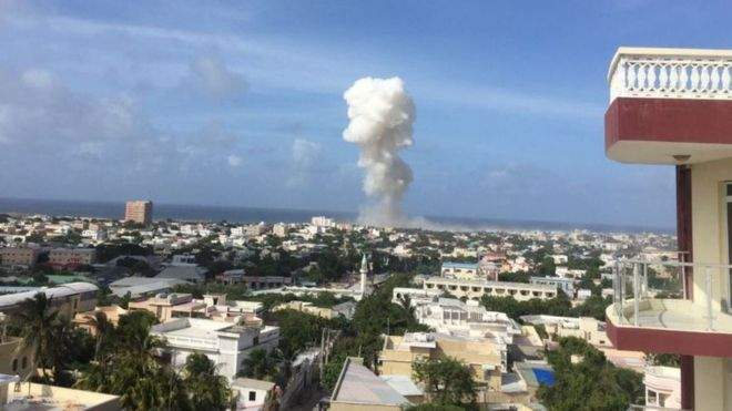 Рядом с аэропортом Сомали мощный взрыв. Есть пострадавшие