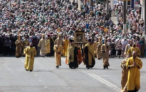 В Киев прибыли обе колонны Крестного хода УПЦ