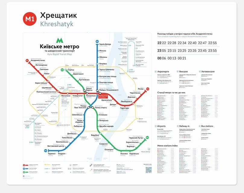 На центральных станциях метро Киева появится новая навигация