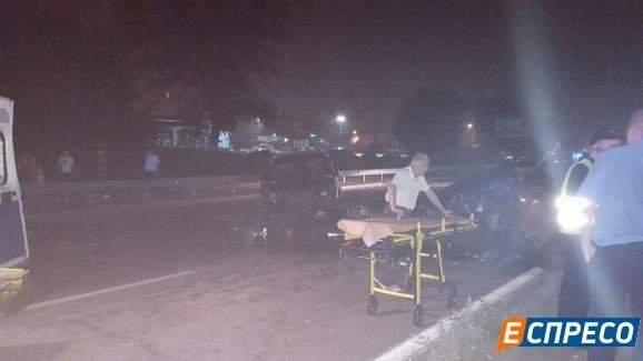 Обнародованы фото с места ДТП в Киеве