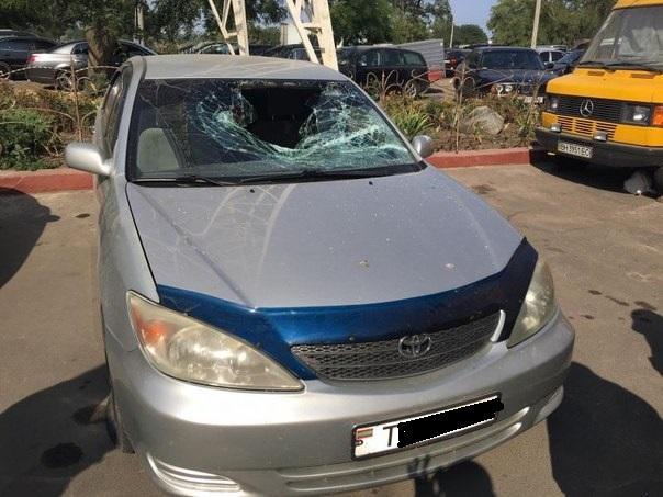 В Одессе жителю Приднестровья разбили машину