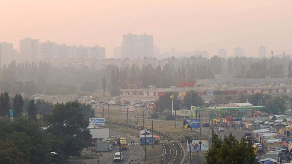 Воздух в Киеве остается загрязненный из-за жары