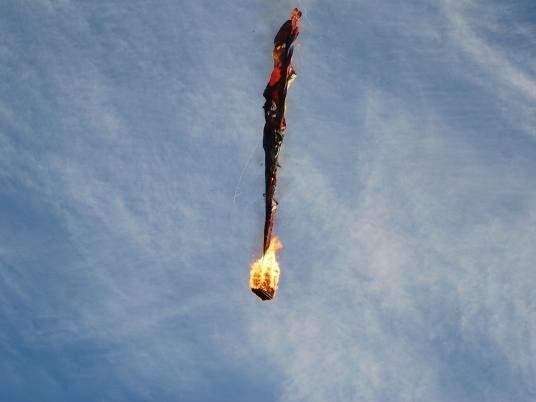 Обнародована видеозапись с места крушения воздушного шара