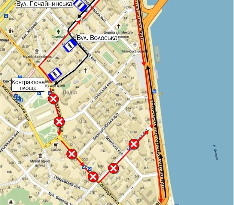 31 июля в Киеве ограничат движение на Контрактовой площади