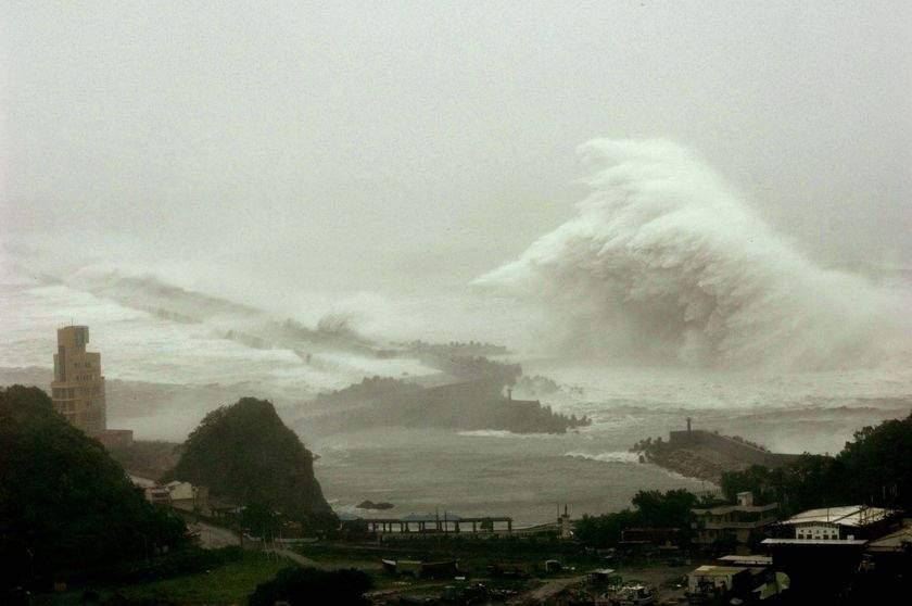 В Китае повысился уровень опасности из-за приближения тайфуна