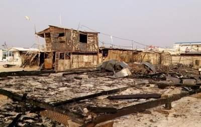 В Запорожье в результате возгорания МАФов пострадал человек