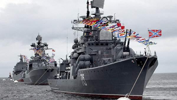 В Севастополе прошёл парад в честь дня ВМФ