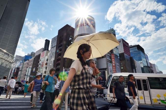 В Японии от изнуряющей жары гибнут люди